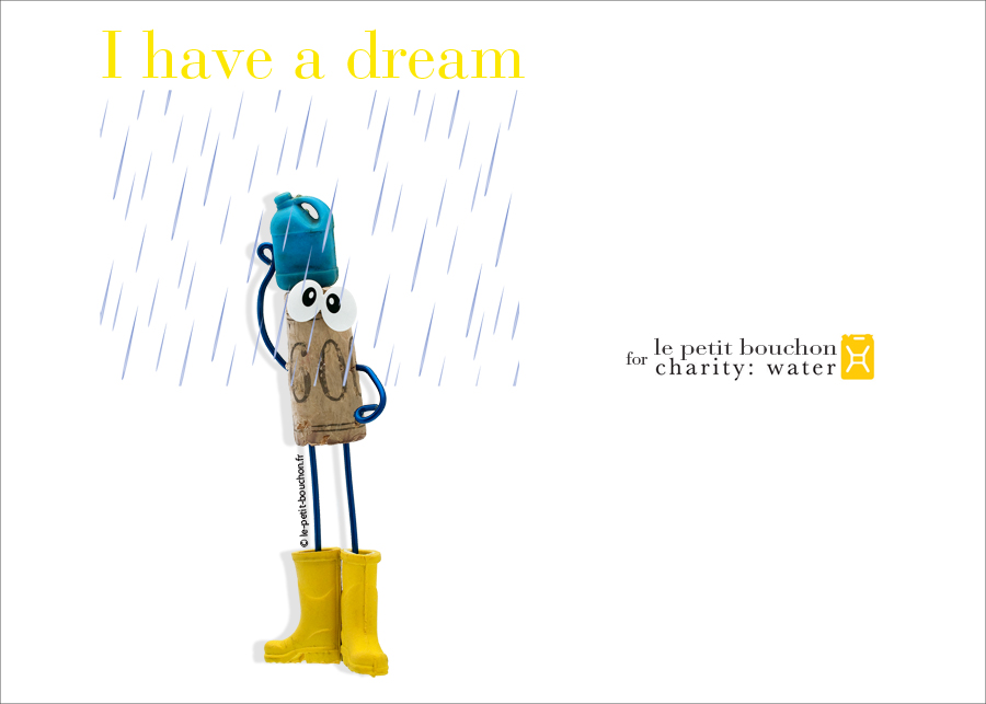 Charity water : I have a dream que la pluie arrive !!!